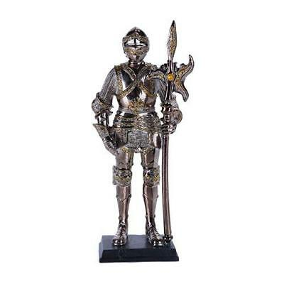 "7"" Tall Medieval Knight Statue Figurine Suit of Armor with Stand"