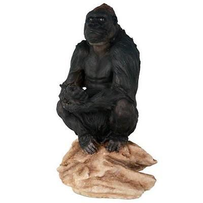 Lowland Gorilla Herbivorous Ape Wildlife Endangered Collectible Figurine Statue