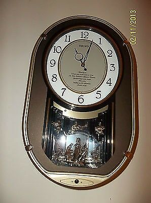 Seiko Wall Clock Melodies In Motion Musical Clock Qxm329Nrh