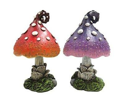 Enchanted Garden Decorative Mushrooms Set of 2 Mini Fairy Garden Decorative Acce