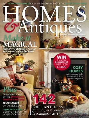 Homes & Antiques Magazine January 1/2017 + FREE Luxury Festive Gift Tags