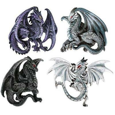 Dragon's Lair Ruth Thompson Set of 4 Collectible Sculptural Dragons Refrigerator