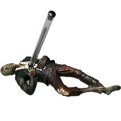 """Zombie Laying Down Statue Figurine with Pencil Holder, 7"""""""