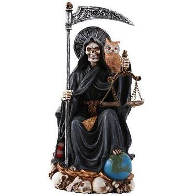 Santa Muerte Saint of Holy Death Seated Religious Statue 9 Inch