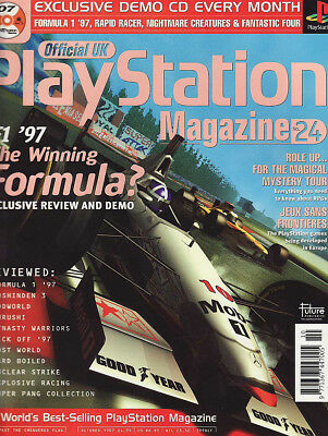 OFFICIAL PLAYSTATION MAGAZINE issue 24 OCTOBER 1997 - F1 '97 cover!