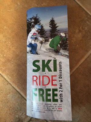 2 for 1 Ski Lift Pass 40 Ski Areas in: NY, VT, MA, CT, NJ, PA Buy 1 get 1 free