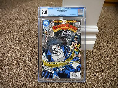 Wonder Woman 60 cgc 9.8 Lobo bondage magic lasso Batman movie JLA WHITE pgs MINT