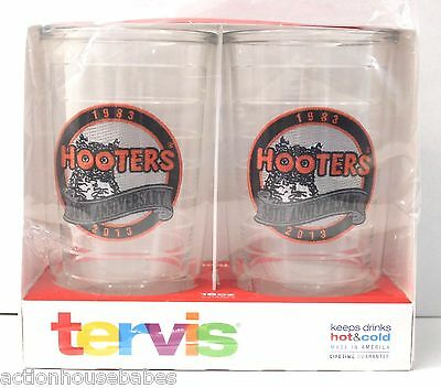 Set  2 HOOTERS 30th Anniversary 16 oz. TERVIS Hot & Cold Tumblers Cup Glasses