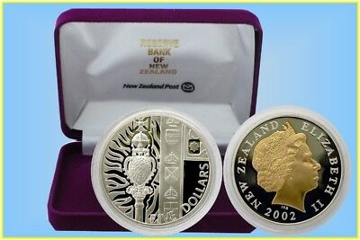 New Zealand 2002 $5 Golden Jubilee Silver Proof Coin