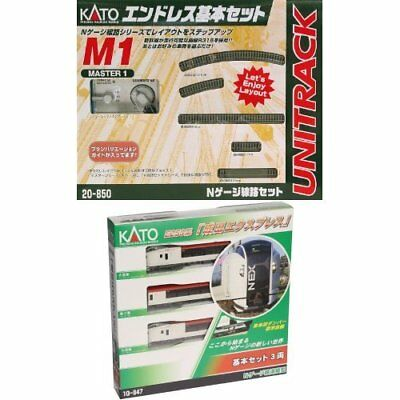 NEW Kato N gauge endless basic set M1 + Narita Express Basic Starter set