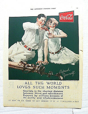 "1926 May,8 Saturday Evening Post ""the World Loves Such Moment"" Couple After Golf"