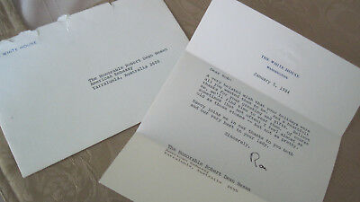 US President Reagan W.H. Letterhead Autographed 1984 Letter to Ambassador