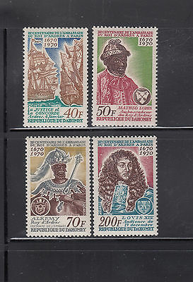 Dahomey 1970  King of Andres  Sc 271-274 complete Mint Never Hinged