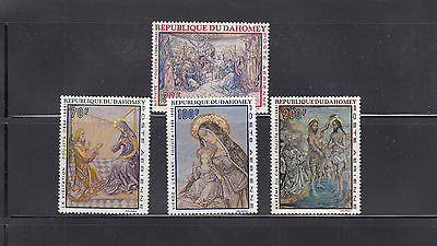 Dahomey 1968 Christmas Paintings  Sc C89-C92  complete Mint Never Hinged