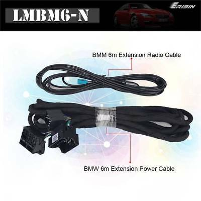 Erisin Lmbm6-N Bmw 6M Extension Radio Cable And Bmw 6M Extension Power Cable