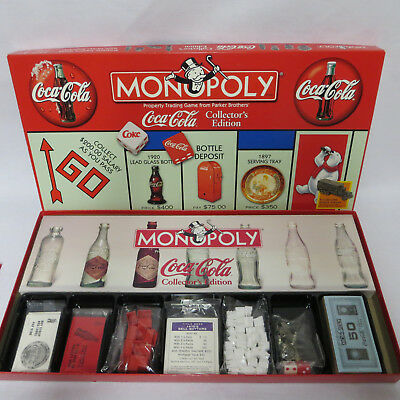 Coca Cola Monopoly Game Vintage 1999 New Sealed Pieces Box Open Pewter Tokens