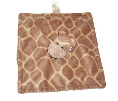 Koala Baby Babies R US Giraffe Print Blanket Brown Tan Security Lovey