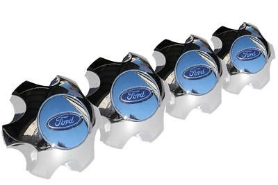 "Set Of 4 New Oem Chrome Clad Wheel Center Cap 2010-2013 Ford F-150 18"" X 7.5"""