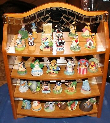The Disney Magic Lenox 24 Thimble Collection Complete  W Mirror Stand Figurines