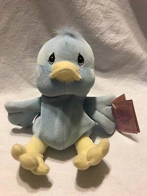 Limited Edition 1997 Precious Moments Tender Tails Blue Duck by Enesco
