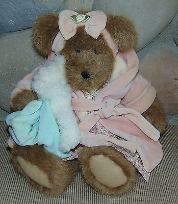 "Boyds 15"" Bear - Head Bean Collection - MWT - Momma Bearsley w Baby Bundles"
