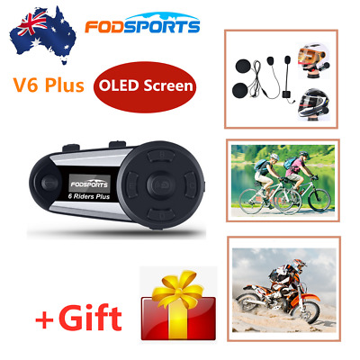 M1-S 2000M Motorcycle Bluetooth Intercom BT Interphone Helmet Headset 8 riders