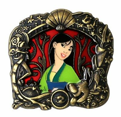 Disney Stained Glass Princess Series Mulan LE-300 Pin N2