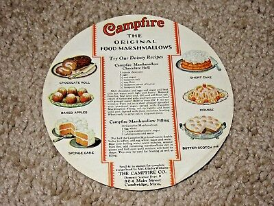 Vintage Campfire Marshmallows & Creme Recipes Pamphlet