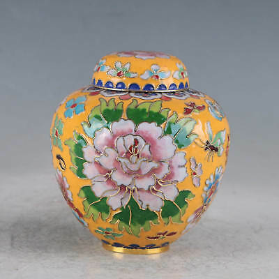 Chinese Cloisonne Hand-made Lotus Pot JTL1037