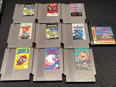 Nintendo (NES) lot of 10 games Please Review The Pictures For Titles