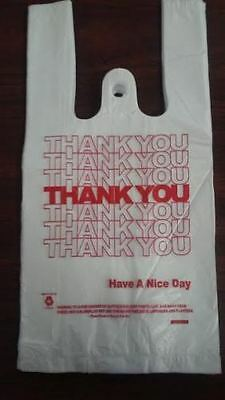 NEW 1000 ct PLASTIC SHOPPING BAGS T-SHIRT TYPE, GROCERY WHITE SMALL SIZE BAGS!!!