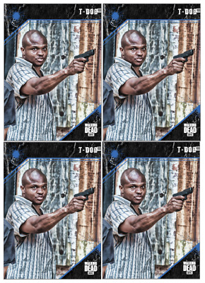 Topps The Walking Dead Card Trader  Point of Impact T-Dog 4x Blue Digital