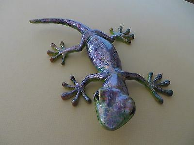 Ugabee's Gecko Lizard One Of Kind Uv Protected Paint Display In Or Outdoors