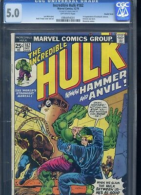 Incredible Hulk #182 CGC 5.0 Double Cover 3rd Appearance of Wolverine