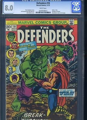 Defenders #10 CGC 8.0 Hulk vs. Thor