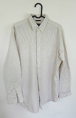 Mens Ralph Lauren Chaps Vtg Retro Athletic Long Sleeve Striped Shirt Vgc Uk L
