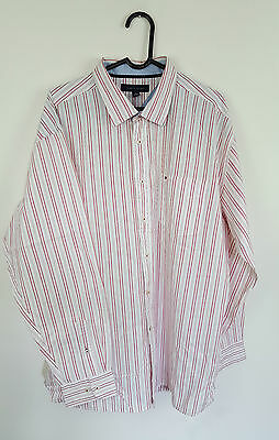 Mens Tommy Hilfiger Vtg Retro Athletic Long Sleeve Striped Shirt Vgc Uk Xl