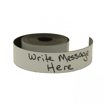 JVCC MAG-01-W Writeable Magnetic Tape: 1 in. x 10 ft. (White - Write-On/Wipe-Off