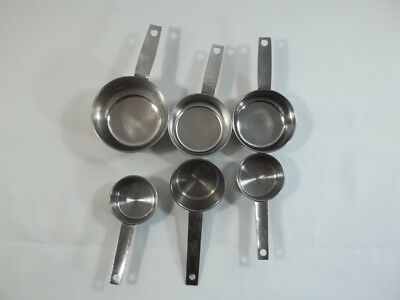 Stainless Steel Measuring Cups Lot of 6 Foley and Unbranded