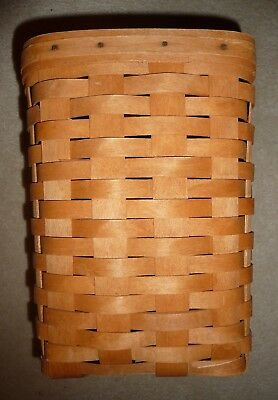 "Longaberger 1992 Mini Waste Basket with NO Protector (10"" by 7.5"" by 7.5"")"