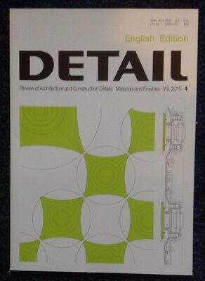 Materials and finishes Detail magazine 2015 - English edition
