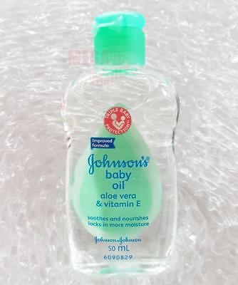 Johnson s Baby Oil with Aloe Vera and Vitamin E Smooth Moisture Skincare 50ml.