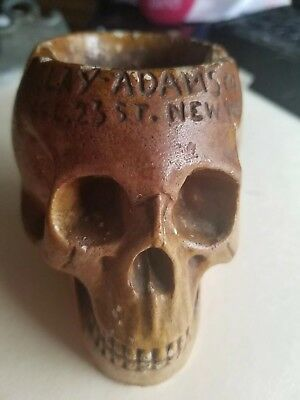 Rare Antique Clay Adams Ashtray In Form Of A Skull...not, Repeat, Not A Repro