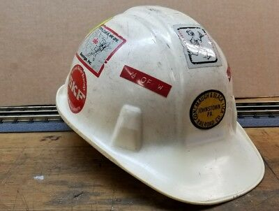 Hard hat from Conemaugh and Blacklick railroad company Johnstown PA,