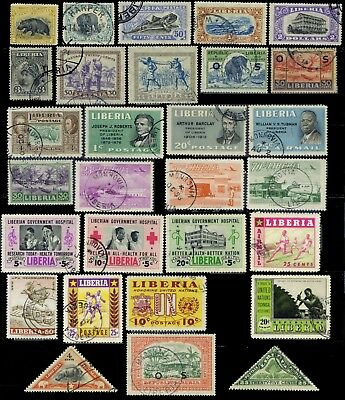 Liberia, 29 different fine used stamps