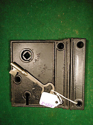 VINTAGE RIM LOCK w/KEY & KEEPER  - RECONDITIONED   (5137-4)