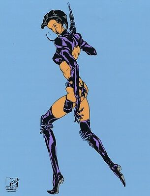 AEON FLUX Limited Edition Silkscreen Animation Art Cel Cell MTV Seal COA Sericel