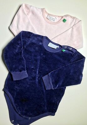 2x Freds World Baby Body Gr. 92 Velours Langarm