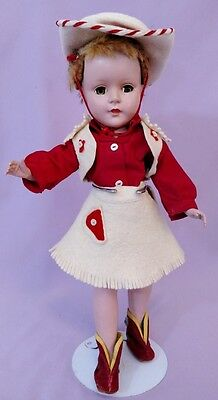 "PRETTY 14"" Hard Plastic SWEET SUE DOLL by AMERICAN CHARACTER 1950s"