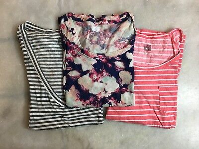 Lot (3) BDG URBAN OUTFITTERS Sz M & S Fitted Pattern Striped TEE T Shirt TOP e